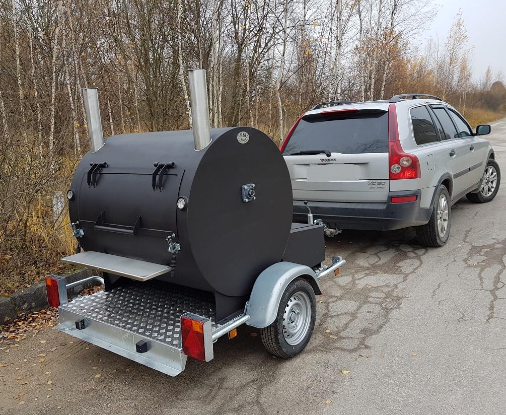 """""""BM-3 Lite"""" Rotisserie Smoker/Cooker Trailer"""