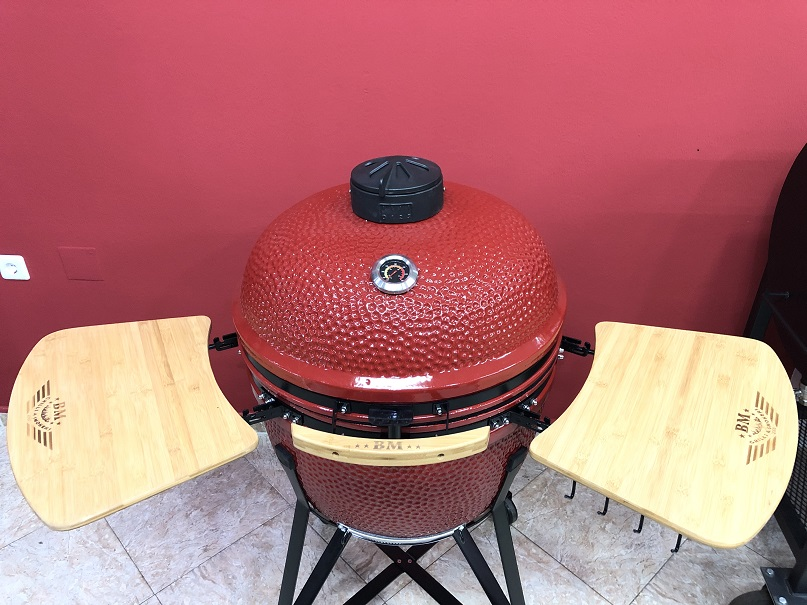 BM-25″   Ceramic Kamado Grill/Smoker (Red)