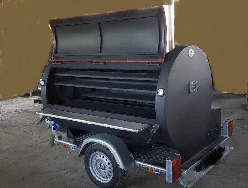 """""""BM-3""""  Rotisserie Smoker/Cooker Trailer"""