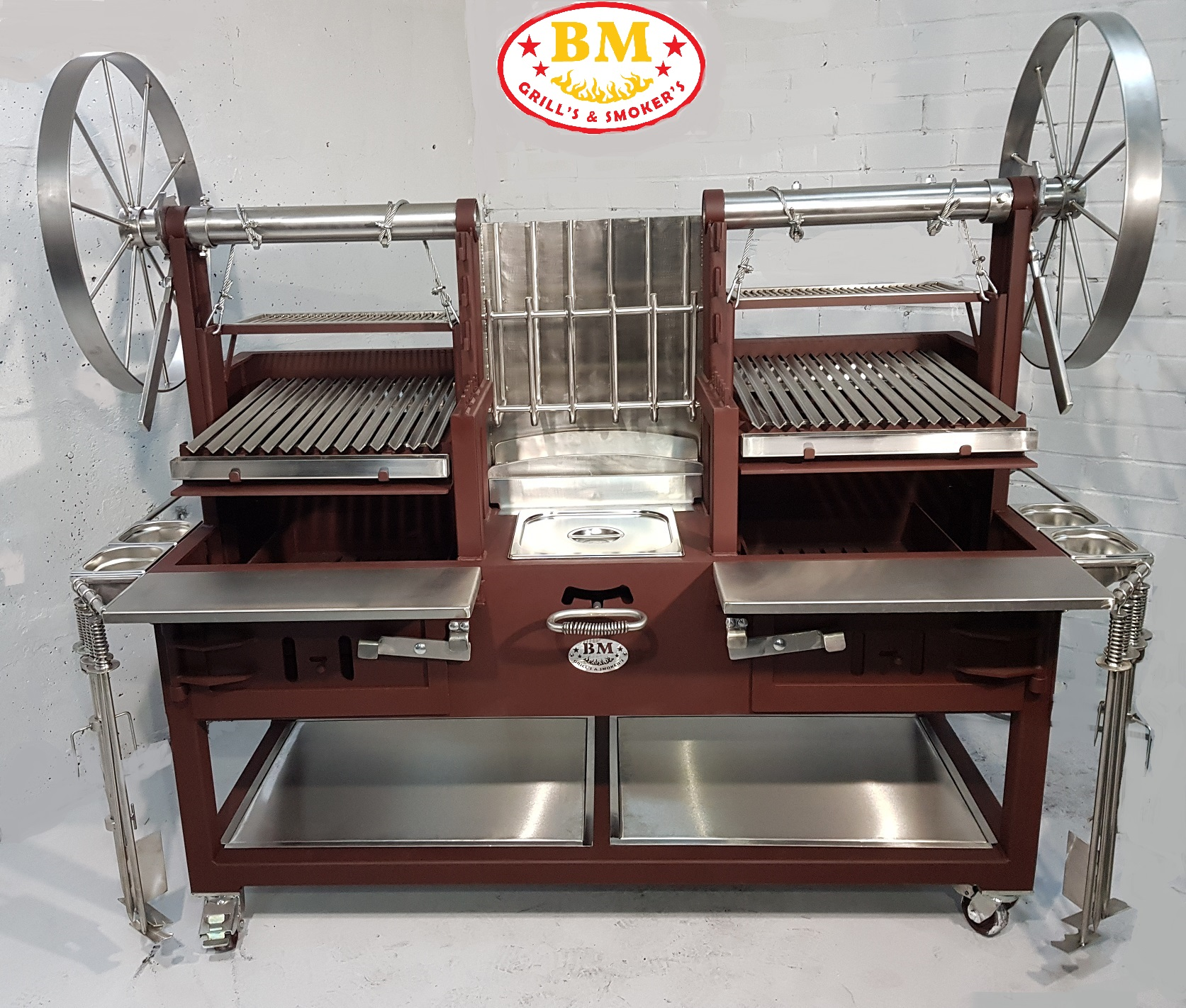 """BM G-5 Plus""   Dual Grill with ember maker"